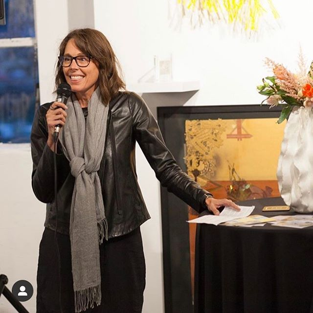 Last week I helped @thehivery celebrate a new collaboration with @sfmomaartistsgallery. Keep an eye out to see all of the new artists we will bring to our Fort Mason workspace. Love being the lead curator for The Hivery! #womendoingcoolstuff #artmatters.  Photo by @mosey_kim
