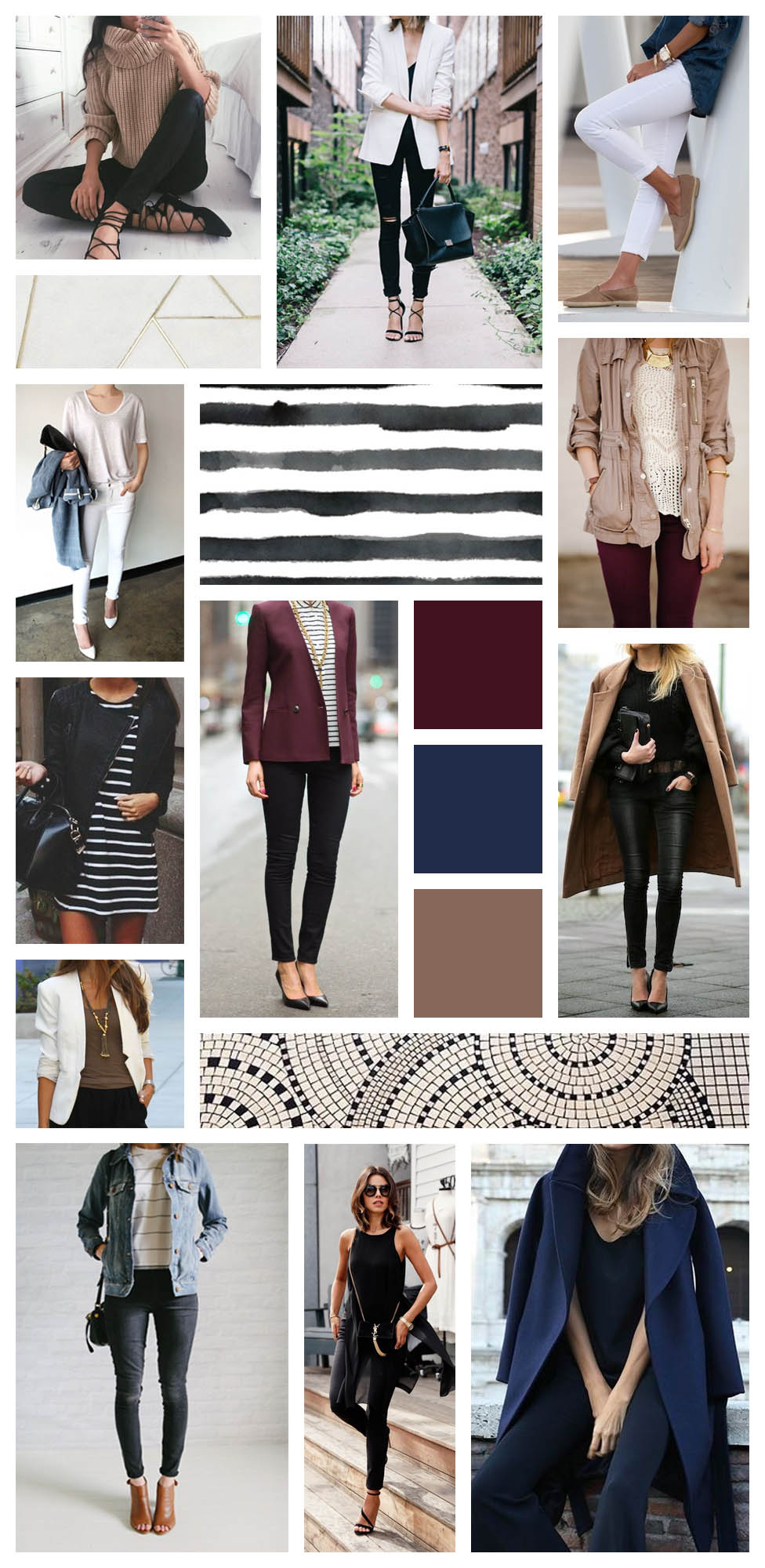 """My mini-Pinterest board to inspire my wardrobe purchases this season. - Cat On The Moon - """"A thoughtful lifestyle blog for a simplified life."""""""
