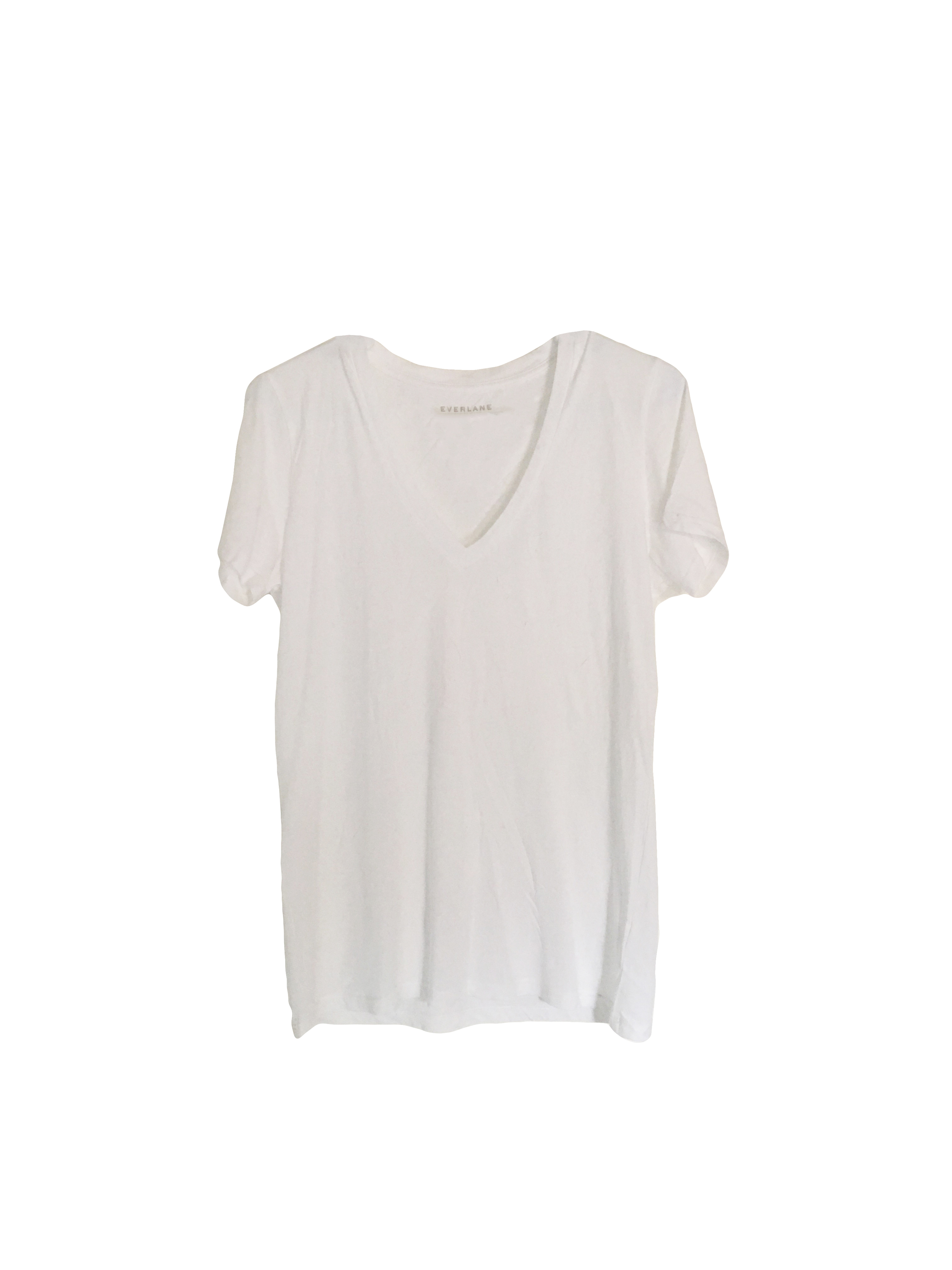 Everlane White Cotton Tee | A Capsule Wardrobe Basic and Staple at Cat On The Moon | A thoughtful style blog for a simple life.
