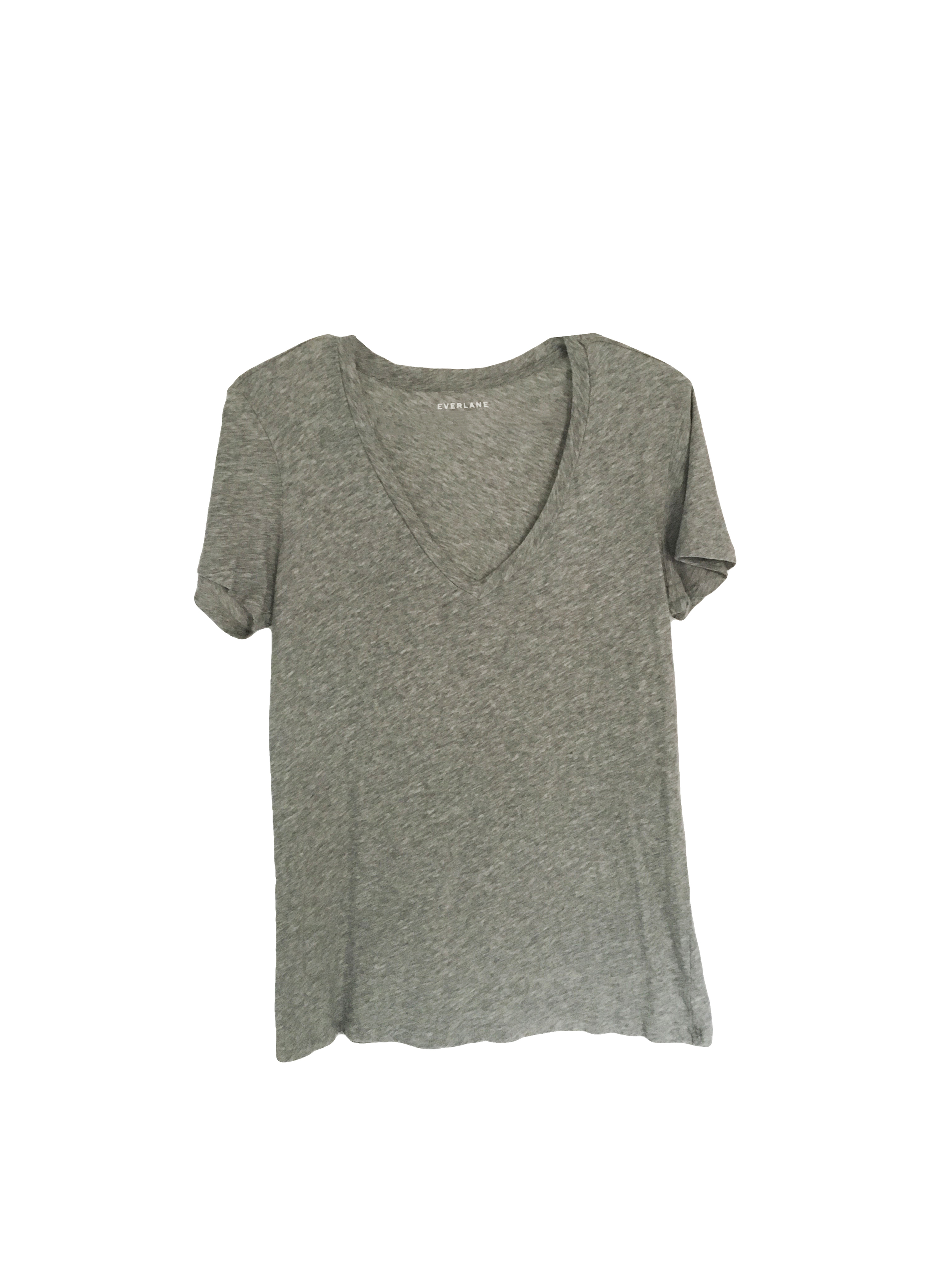 Everlane Gray Cotton Tee | A Capsule Wardrobe Basic and Staple at Cat On The Moon | A thoughtful style blog for a simple life.