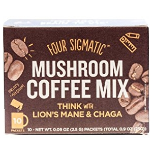Four Sigmatic Mushroom Coffee Mix available from Amazon.