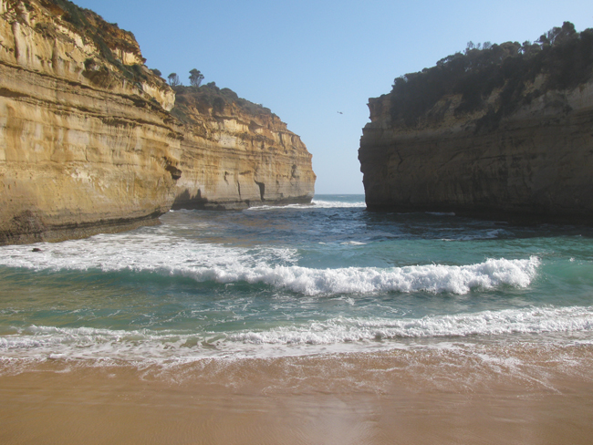 Loch Ard Gorge where the Loch Ard sank and only two survivors made it to this beach alive. It's also a breathtaking sight.