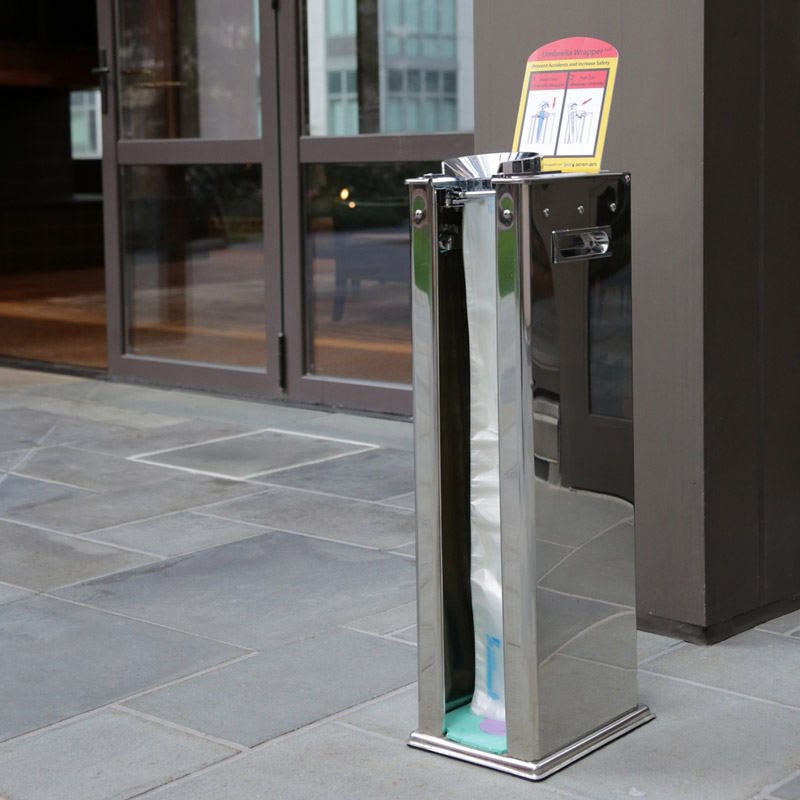 Available in single and dual dispensers to accommodate the amount of foot traffic at your facility. Single dispenser pictured above.