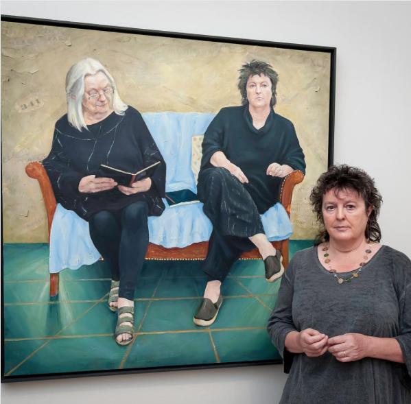 Carol Ann Duffy at the BP Portrait Awards 2017