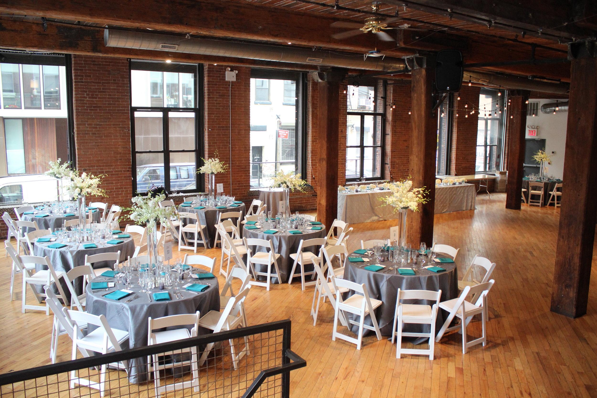 Teal & Grey Weddings Table Centerpieces