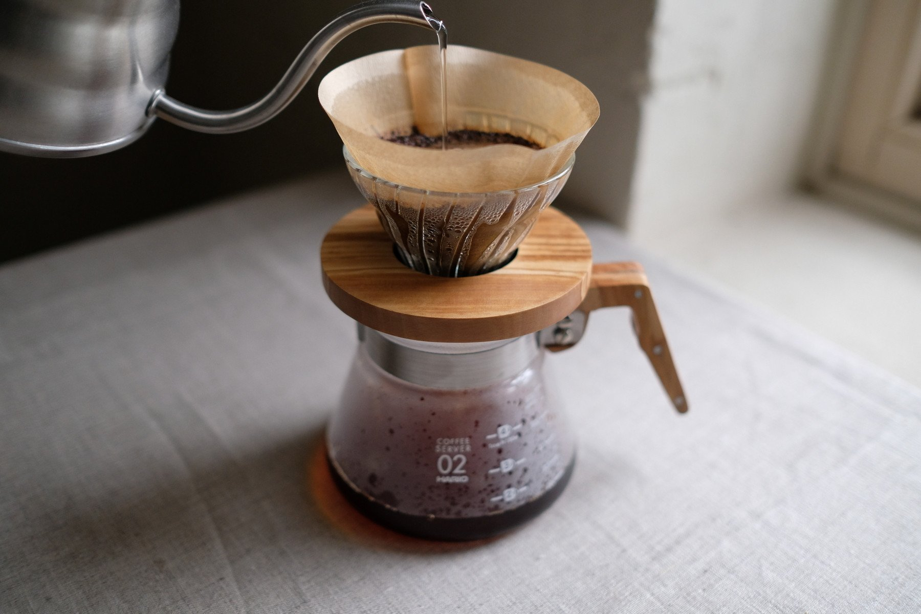 How we brew coffee at home. Japanese pour-over.