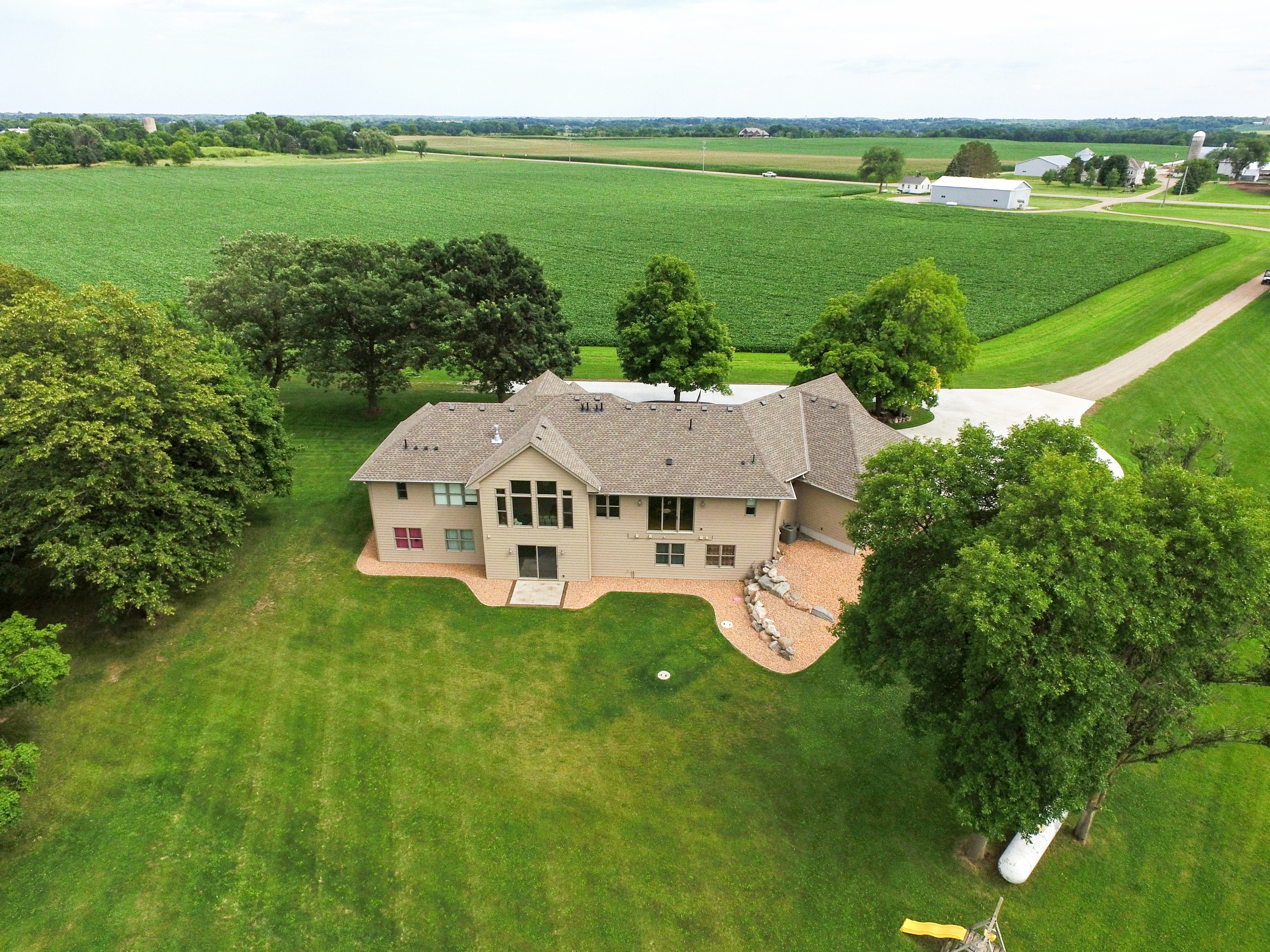 Drones, aerial residential real estate for farms and acreage photography