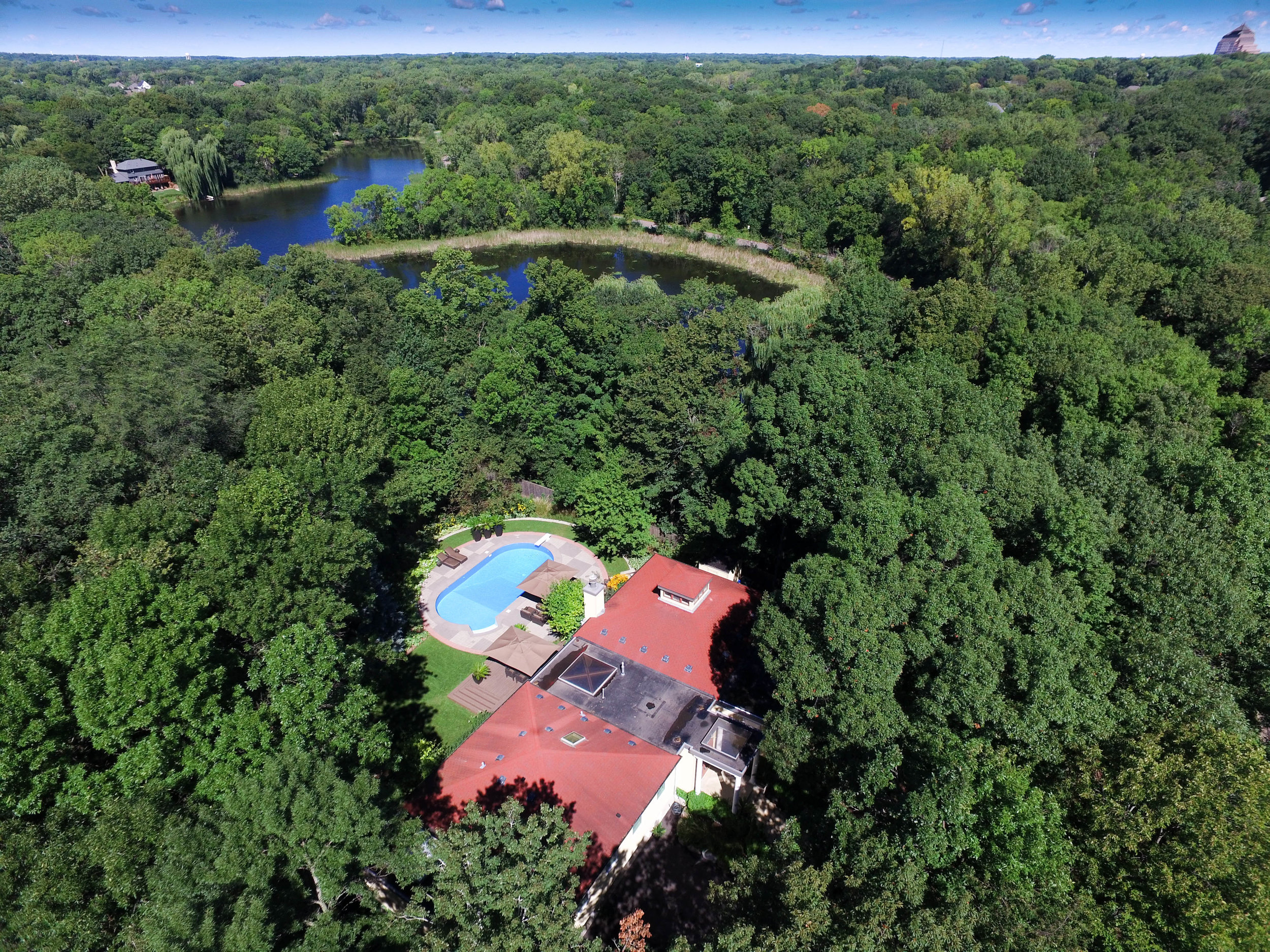 drone real estate pool photography