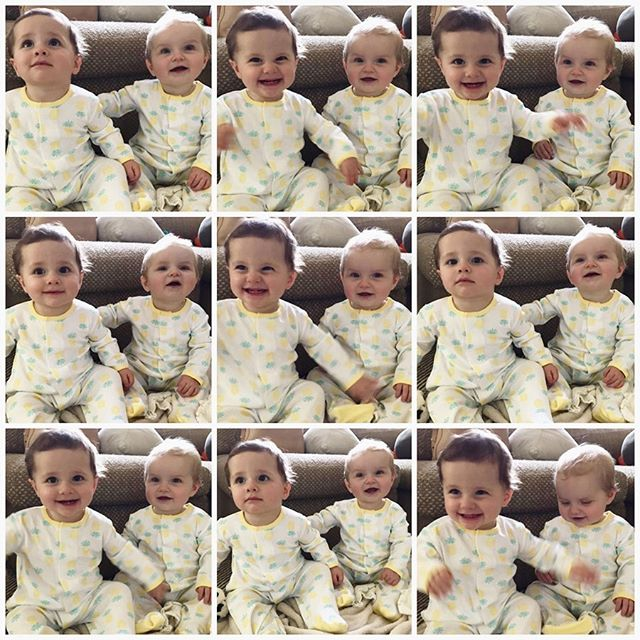Cate & Georgia in matching pjs is a vision  we could only dream of!! Loved a few days spent with one of my absolute favorites and her Gerber baby 💛👶🏼👶🏻#babiesofbesties