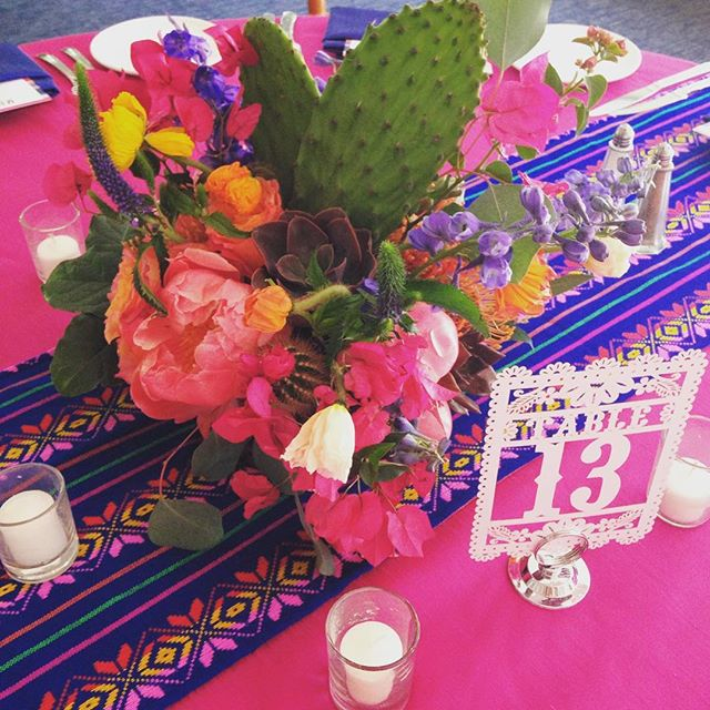 Everything came together beautifully!!!🌵💐🎉🍾 #elchorroweddings #azweddings #butterflypetals #cakeandcacti #succulents #peonies #desertweddings #phx
