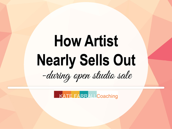 How Artist Deborah Pittman Nearly Sells Out - During Open Studio Sale
