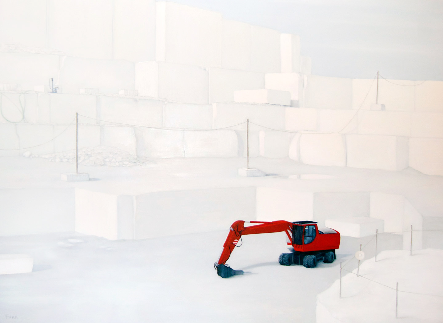 White Marble Quarry , 2013 Oil on board 48 x 36 in