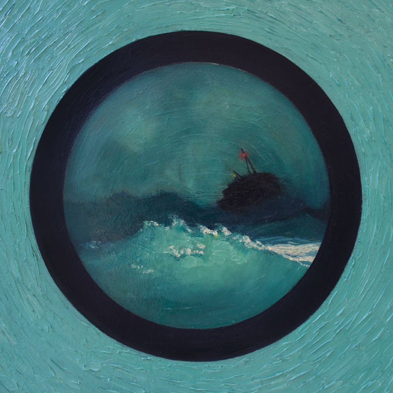 Waves  (detail), 2015 Oil on board 36 x 48 in