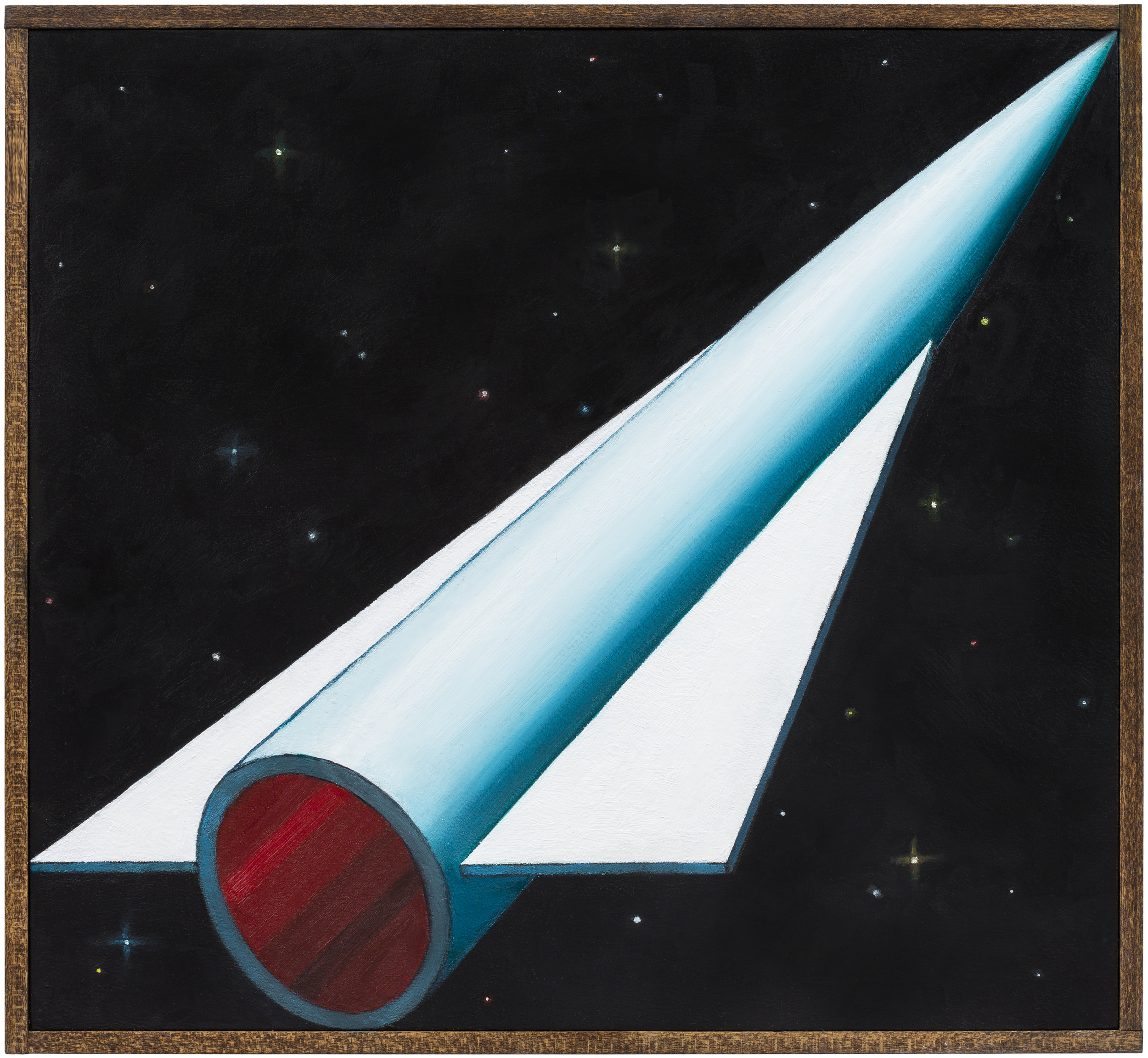 Deep Orbit , 2018 Oil on board, wood frame 11.5 x 12.5 inches