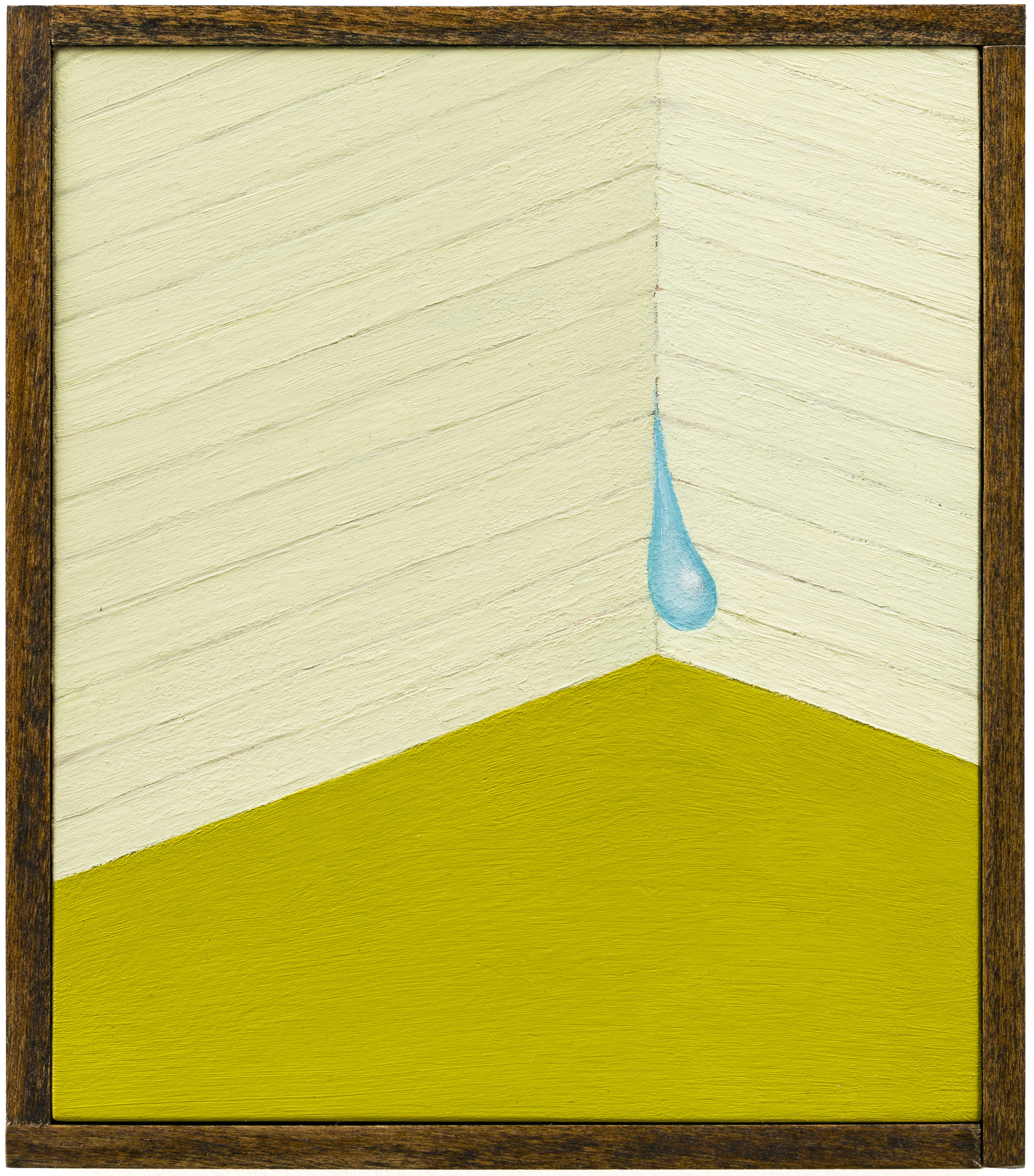 Pressure Drop , 2018 Oil on board, wood frame 6.5 x 7.5 in