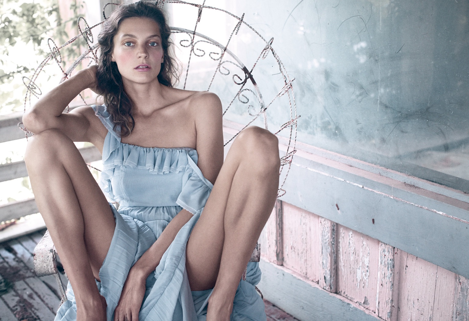 My favorite mood photo of Daria Werbowy from the Fall issue of Porter Magazine