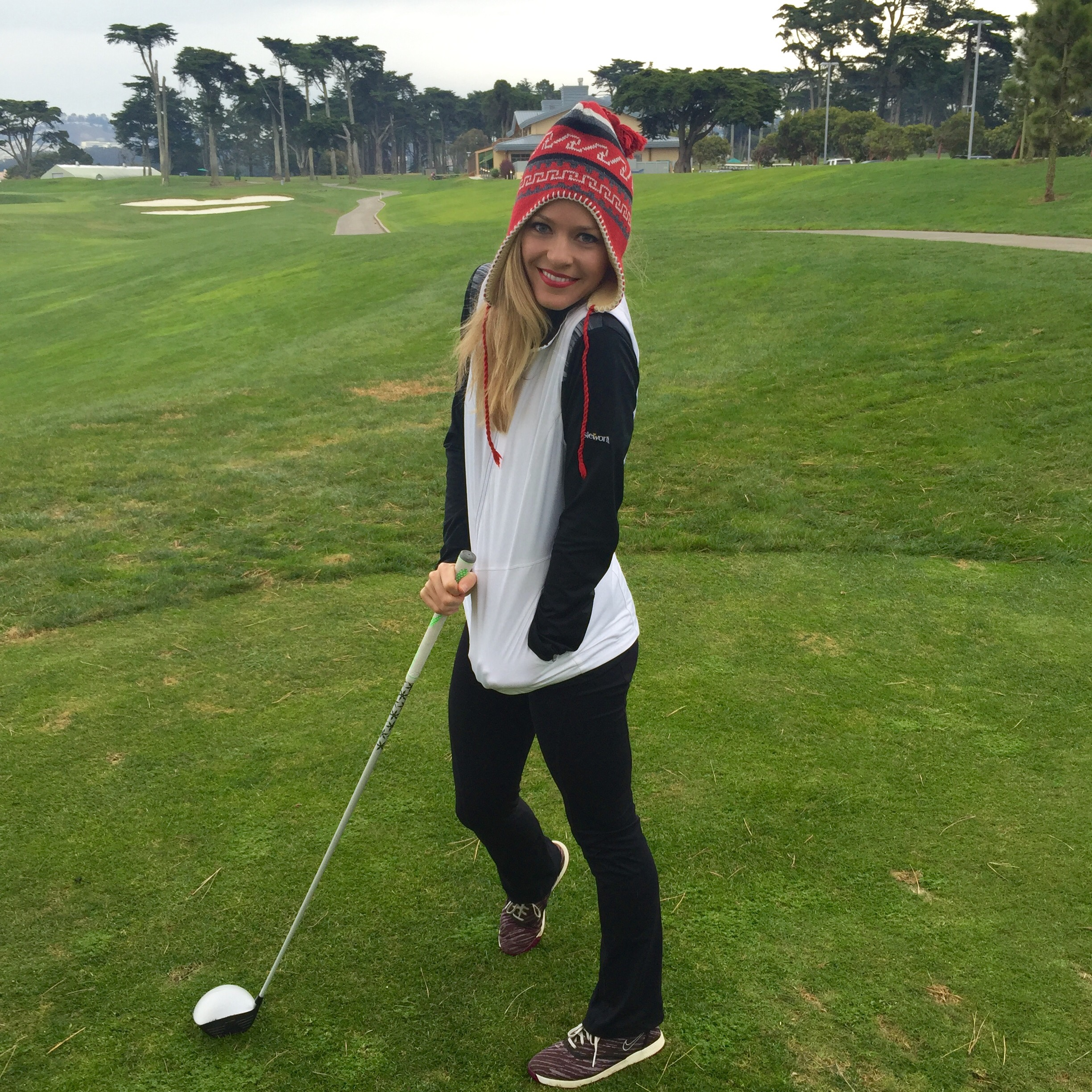 I was so thankful for my warm Antigua reversible vest at Harding Park in chilly San Francisco a couple weeks ago!