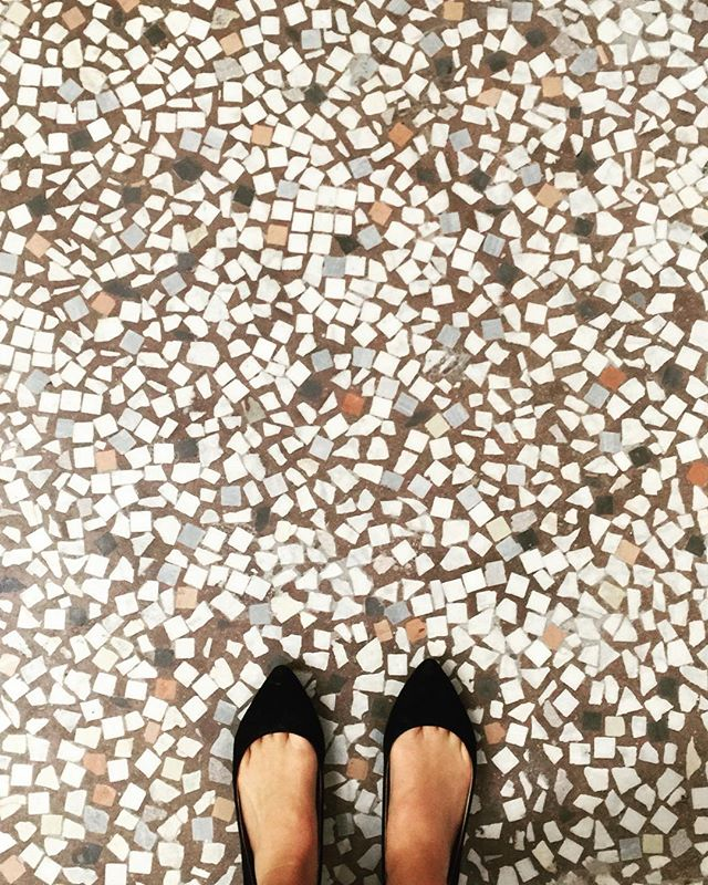Original flooring from when the Clock Building of #PacMutual was built in 1908. #vintage #ihavethisthingwithfloors  #dtla #historic #downtownla #losangeles