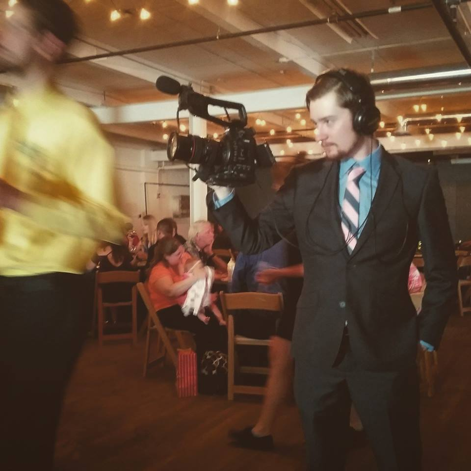 Filming a wedding