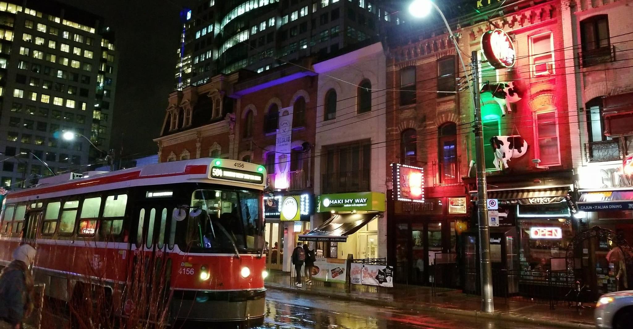 Toronto is stunning at night.