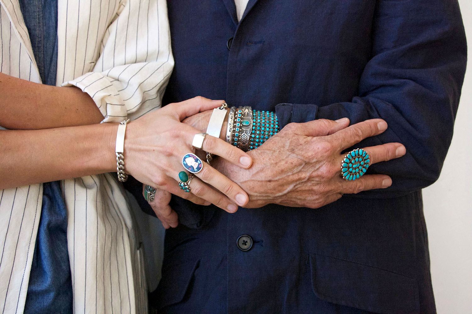 The impeccably adorned hands Crystal and Bonnie Flynt of Bon.
