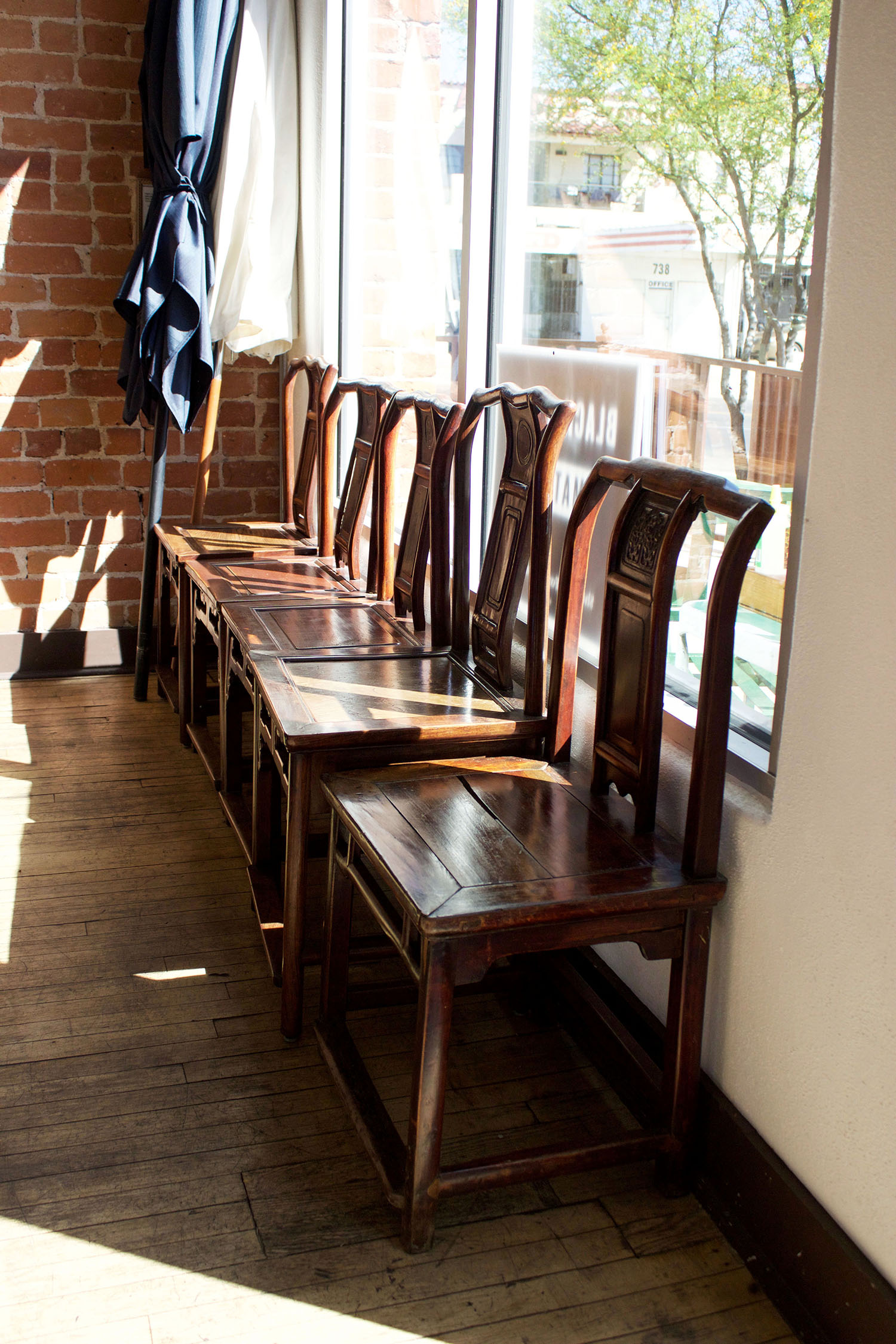 Abundant natural light creates the perfect setting to enjoy brunch with friends.
