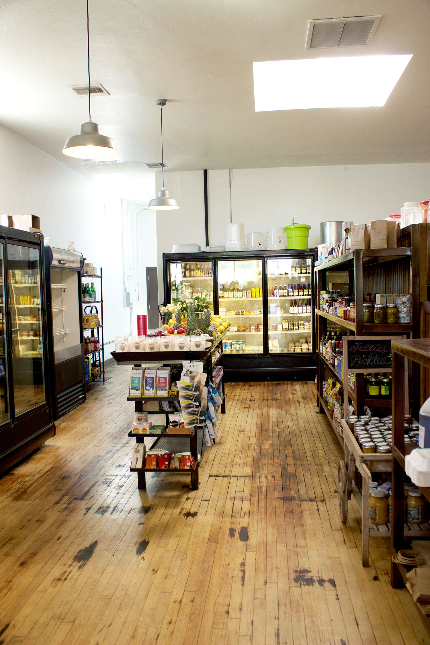 The market in the back of 5 Points offers a considered selection of provisions, many of which are locally made.