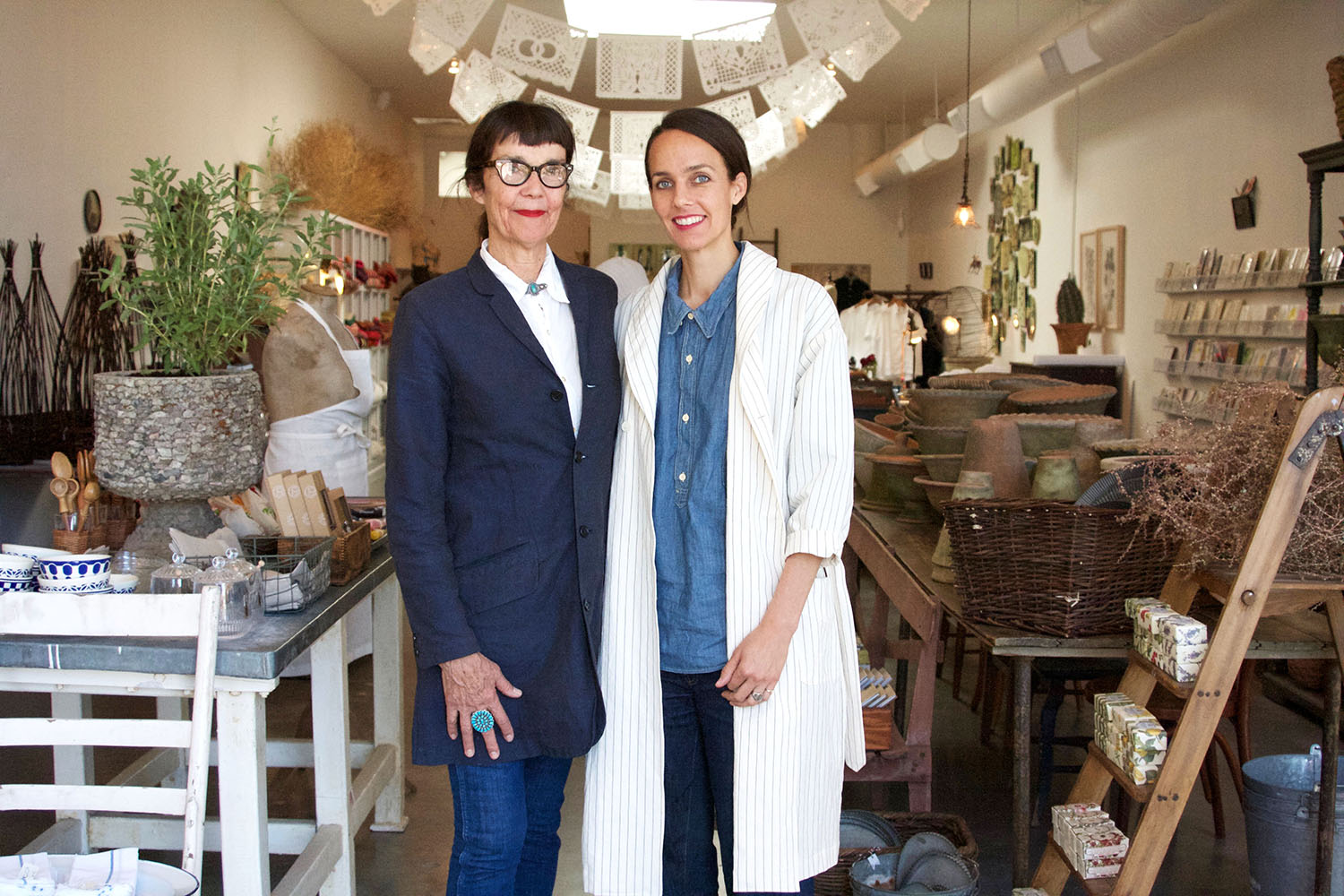 Mother and daughter team Bonnie and Crystal Flynt graciously welcome visitors to their shop, Bon.