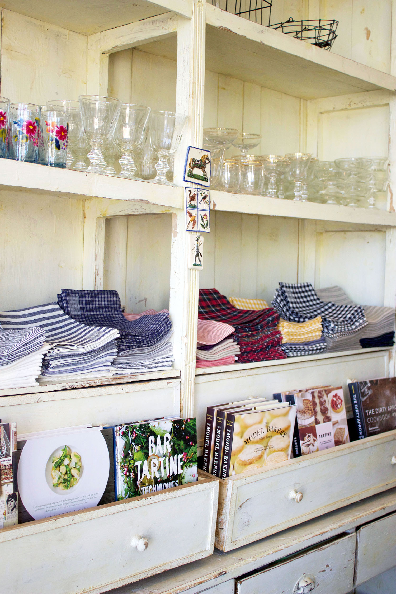Cookbooks and rustic wares to entertain with.