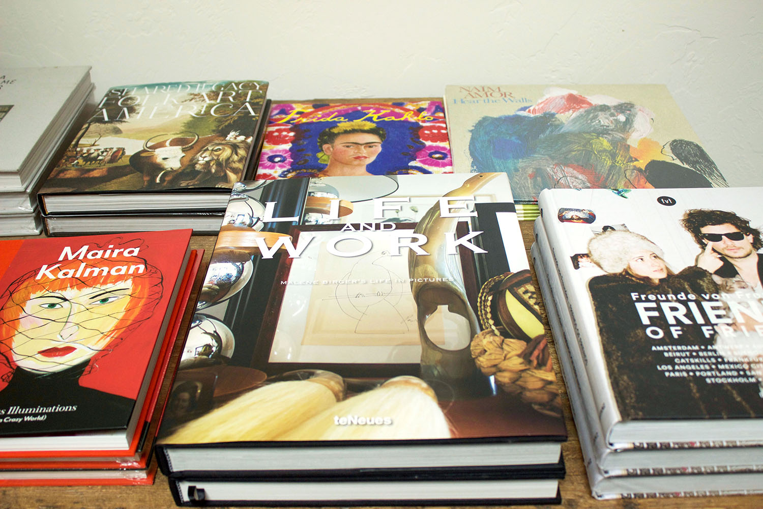 Favorite books of Bon and Crystal will add substance to your coffee table.