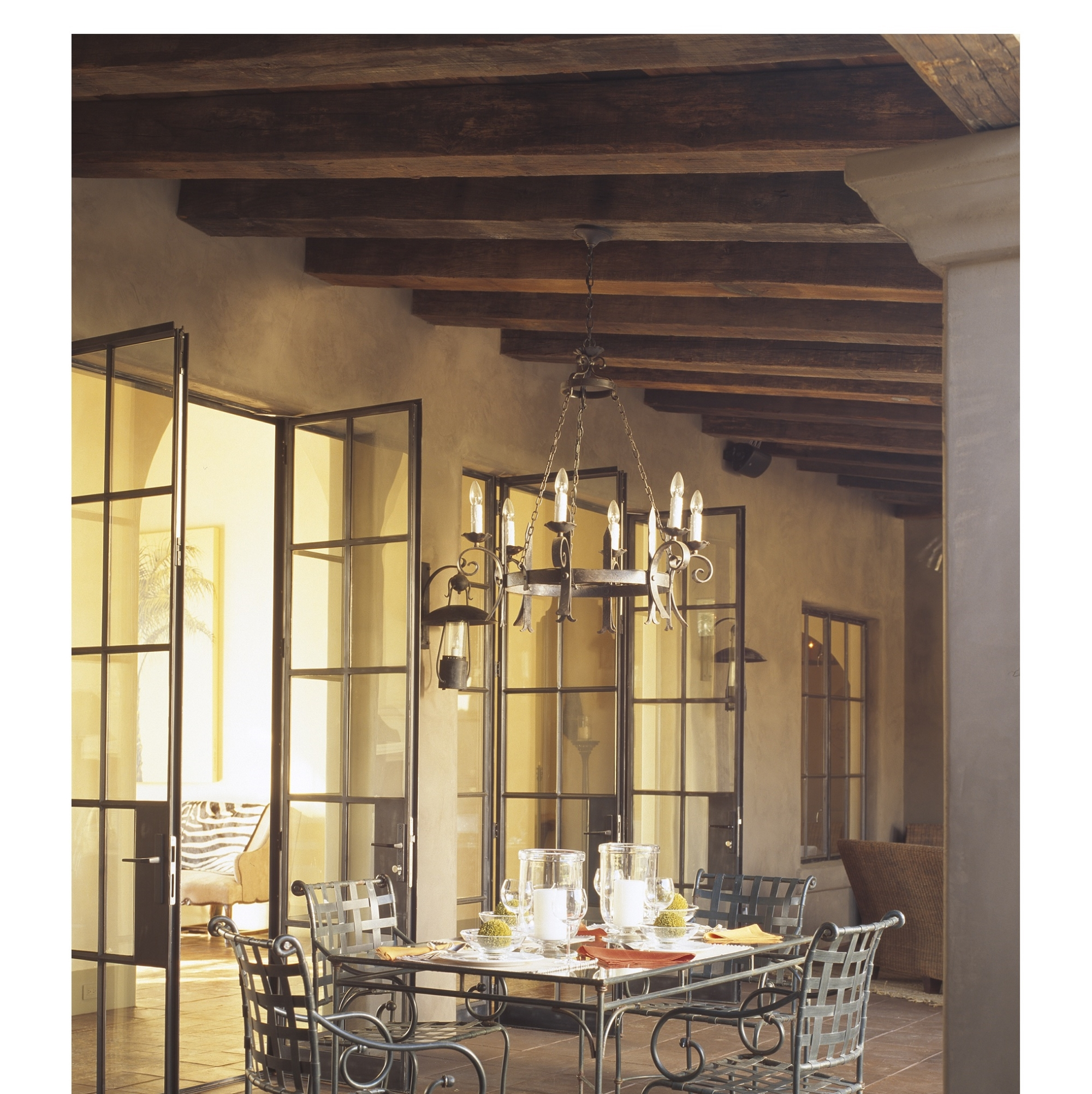Interior - beams - hand hewn-Dinner Alfresco Berquist.jpg