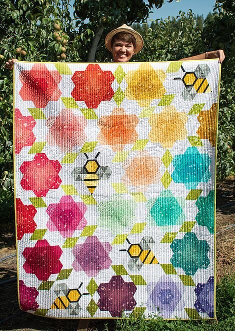 "- First we'll have a short business meeting, and then we'll turn it over to Krista Moser who will share her quilts and enthusiasm for quilting and fiber arts with a trunk show, ""Diamonds are a Quilter's Best Friend."" Plus, she's promised to bring some patterns and templates to sell.Here's one of the new patterns she announced this week, Bumblebee Blossoms. Visit her Instagram page or website, www.kristamoser.com to see more.Then, she'll be back on Saturday, September 21st to teach a workshop featuring her pattern ""Entangled Sky."" Details are at: http://www.tacomamqg.com/krista-moser-workshop.There are still a few spaces left, but don't delay. Sign up today!"