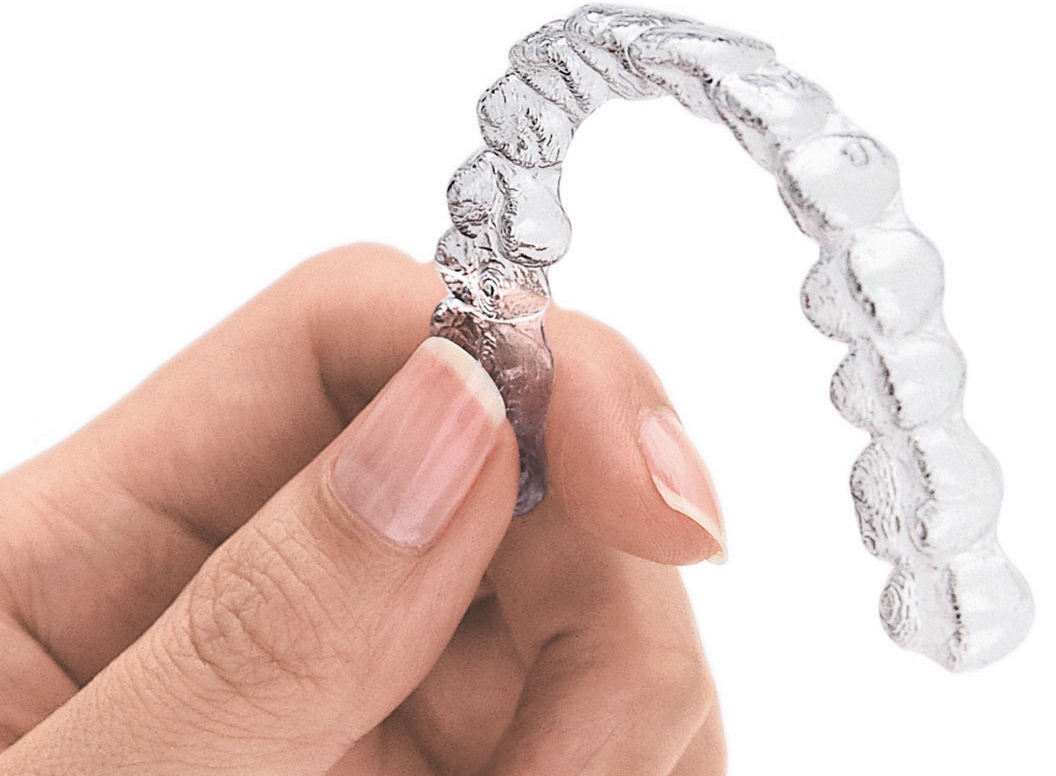 Clear Invialign retainers can straighten your smile.