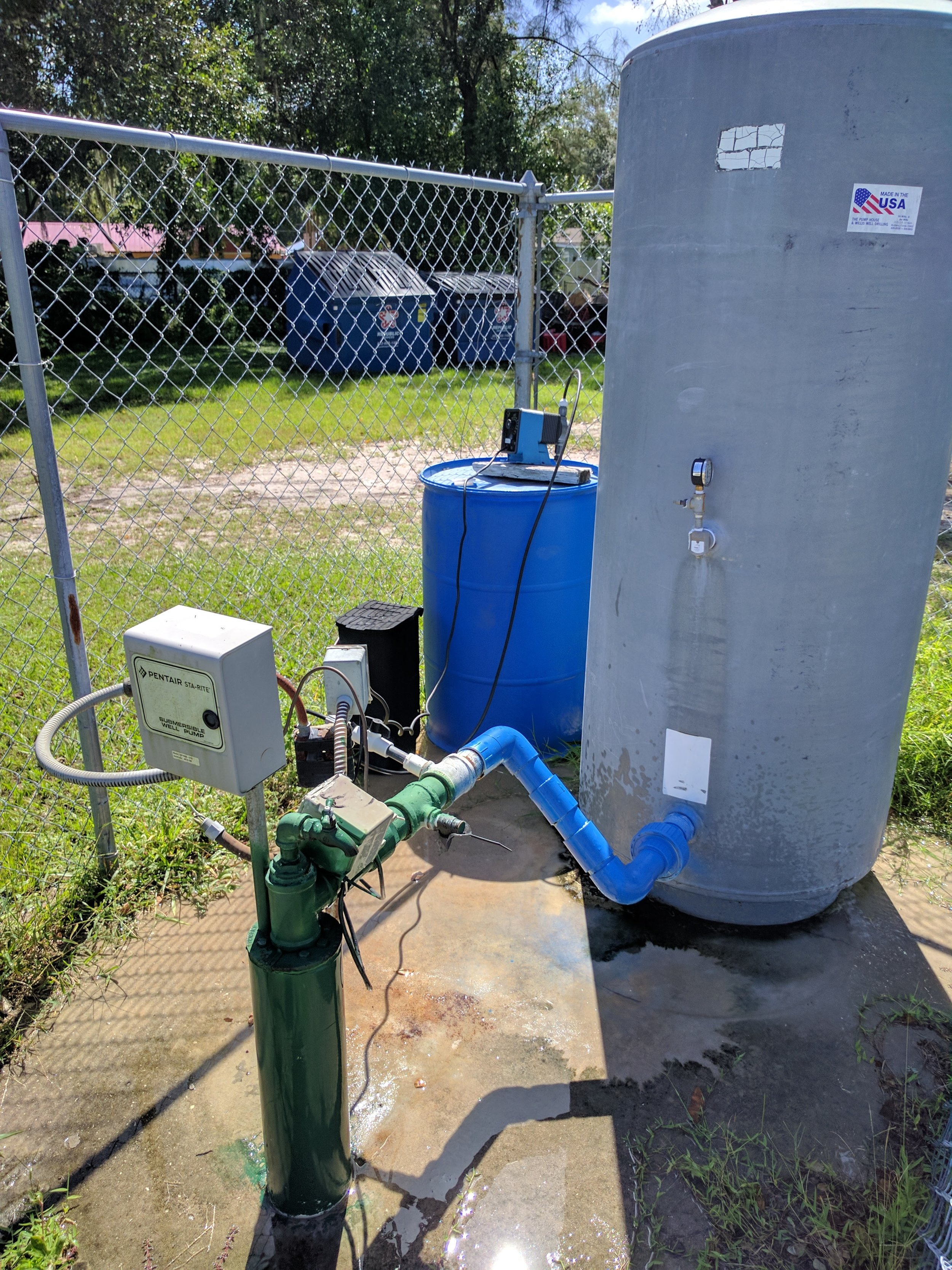 A small community water system (CWS) located in Polk County, FL that we have incorporated into previous research efforts.
