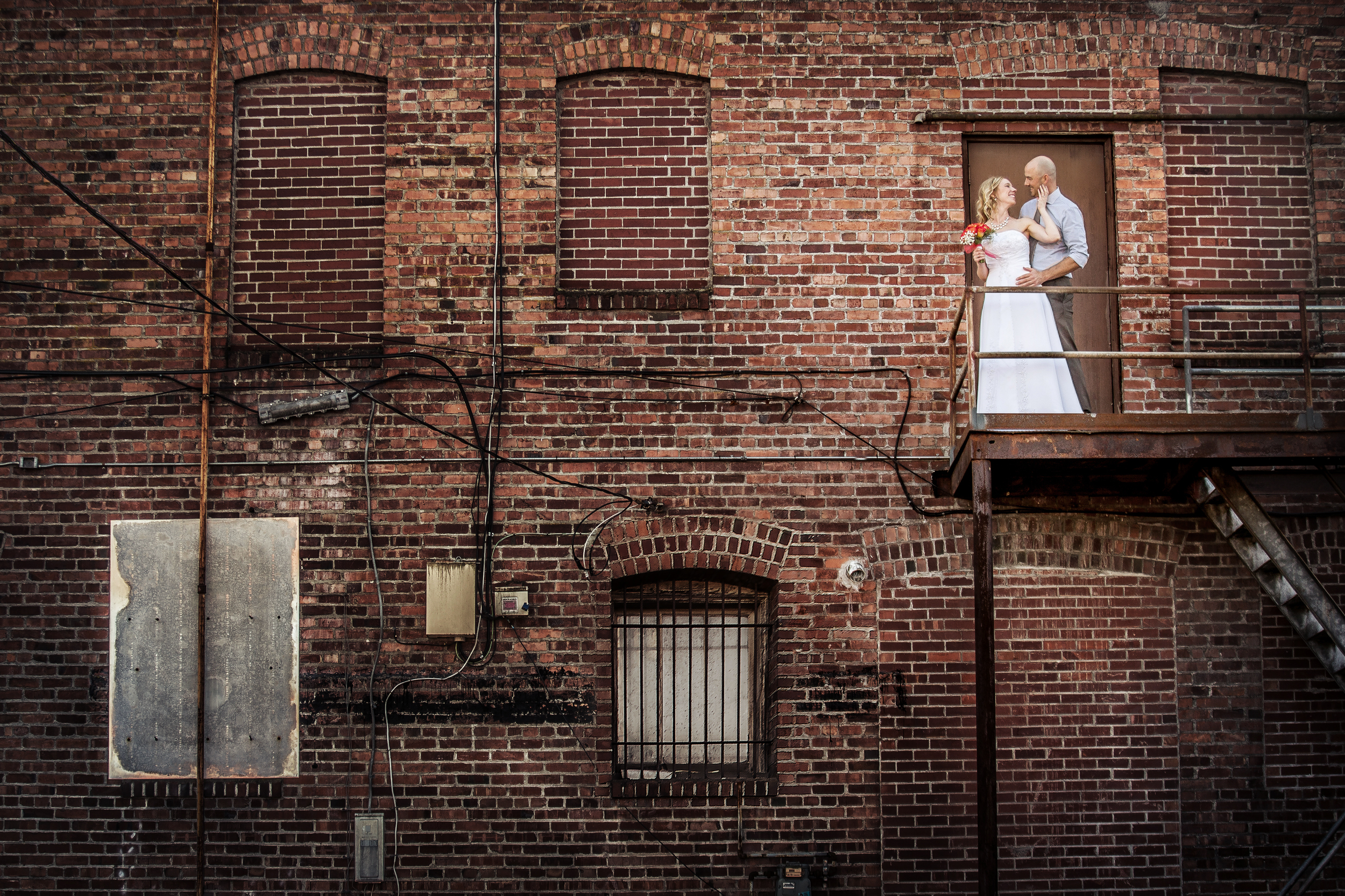 Sumner Washington Wedding, Brick Fire Escape