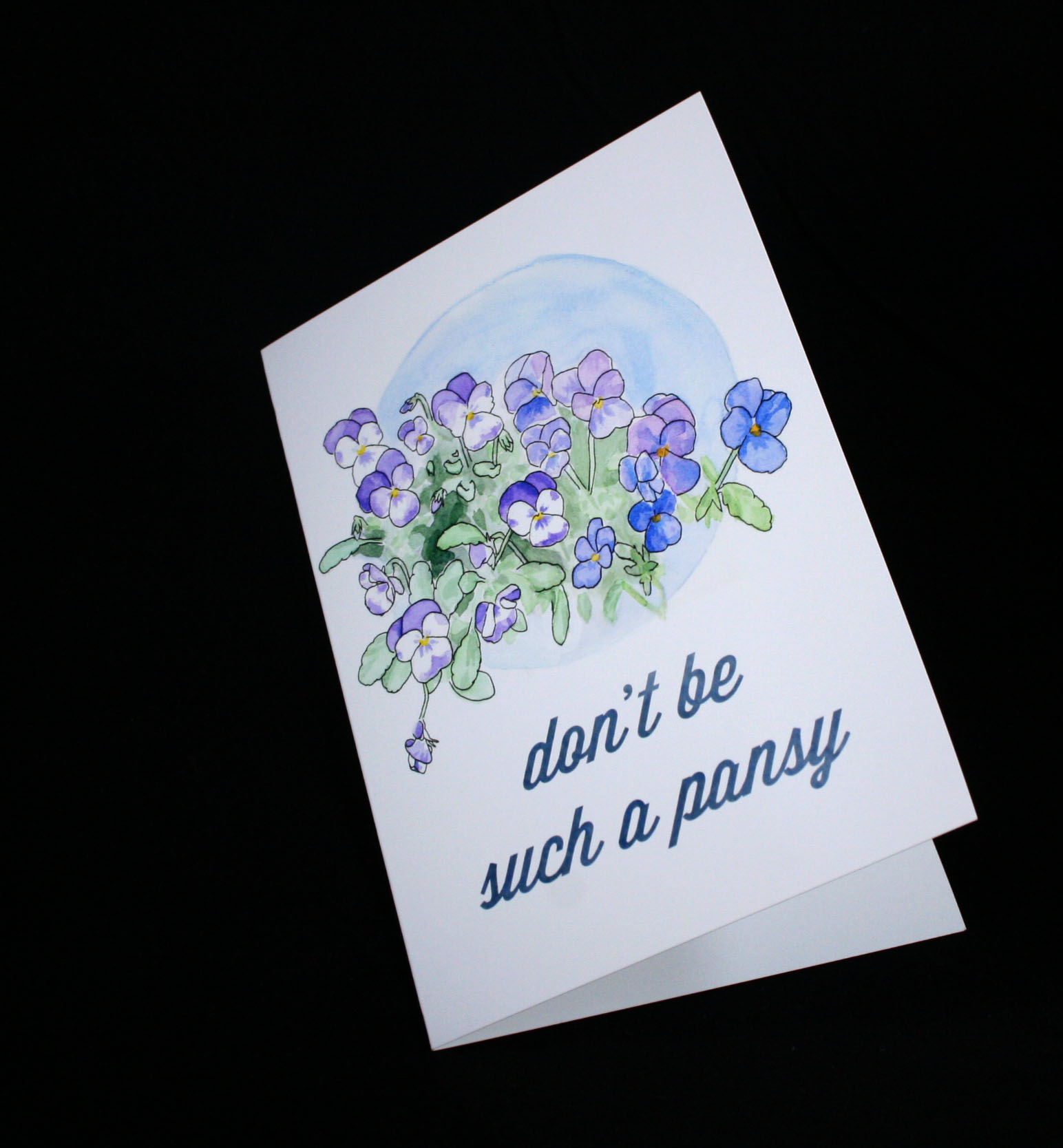 I have two different texts for the inside of this pansy card