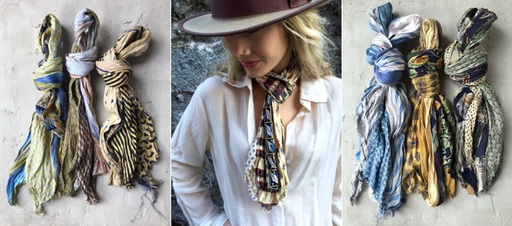 Debe Dohrer Model & Scarves