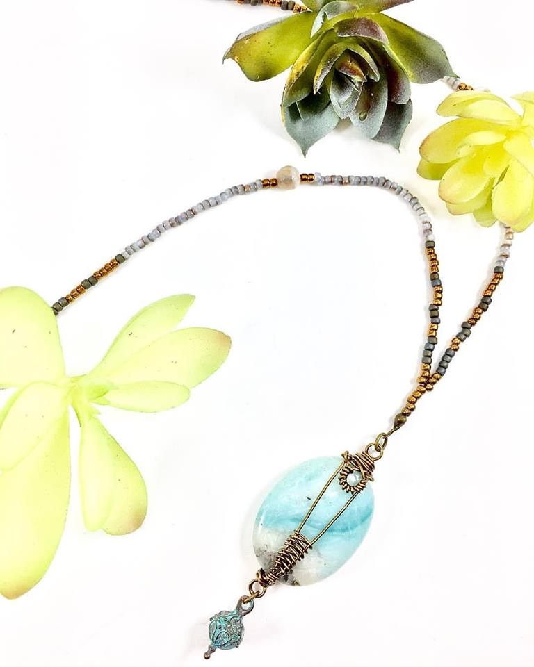 Lock & Key Amazonite Necklace.jpg