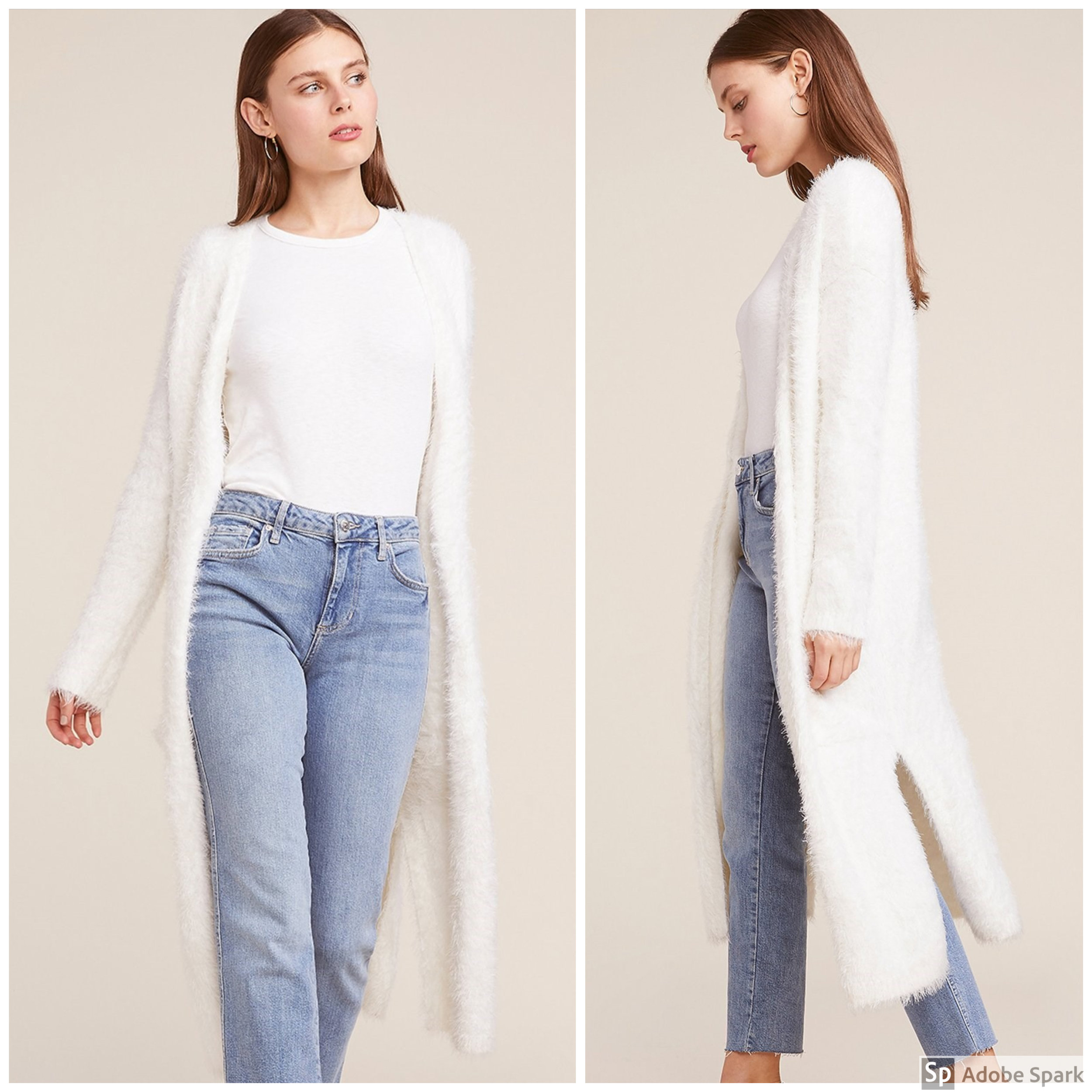 IvoryCardigan - Spotlight Features: knee length & all-over super soft eyelash textureWhy It's Perfect for Fall: It's soft and fuzzy, warm and cozy, & neutral enough to go with anything! Can a sweater get any better than that?