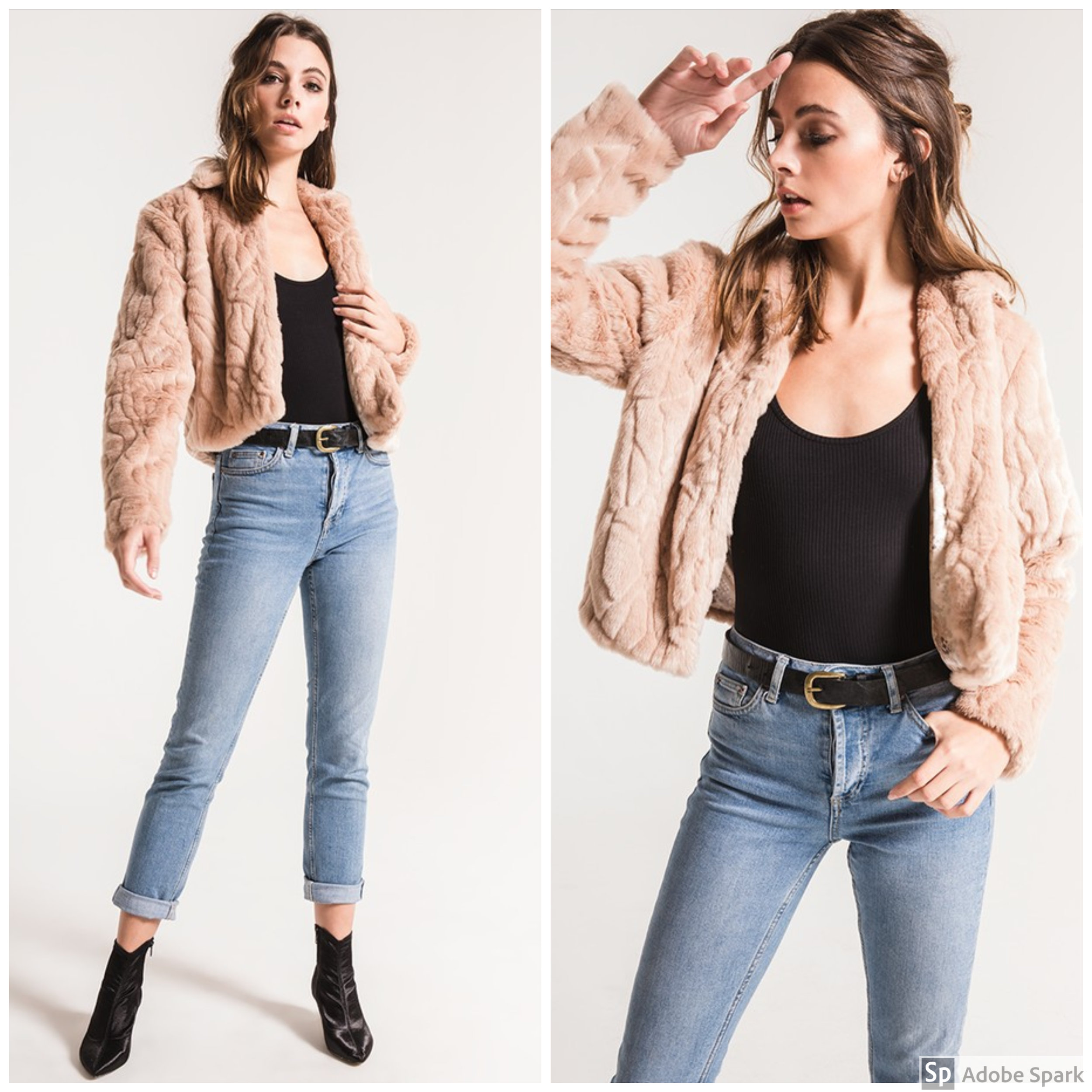 Faux Fur Jacket - Spotlight Features: cropped with soft textured fur and a satin liningWhy You'll Love It: You can throw this jacket on over anything. Worried about getting chilly at that fall wedding you have coming up? This jacket will be perfect over a dress! Or throw it on over a casual top and jeans for regular day-to-day wear.