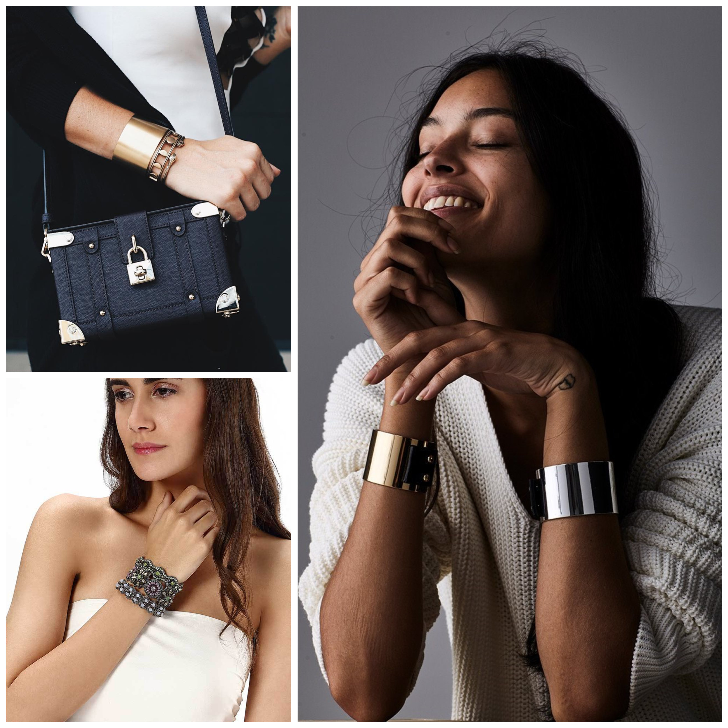 Statement Cuffs - Take a casual fall outfit and add instant glam to it with a sleek, chic cuff bracelet! Roll up your sleeves and show them off!