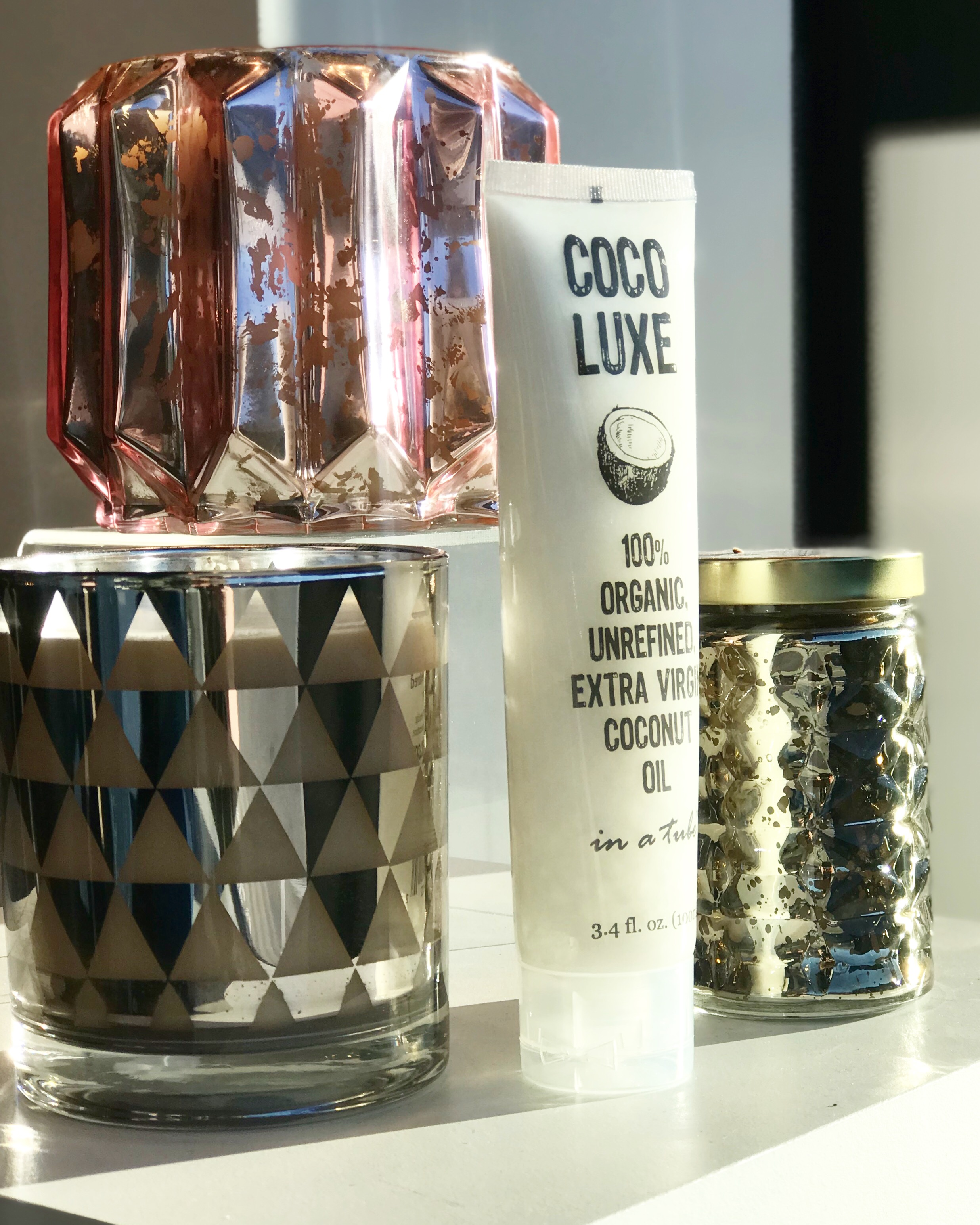 Gift Giving… - I LOVE giving gifts for special occasions! Two of my favorite things in the boutique to gift are Bridgewater Candles and Coco Luxe Organic coconut oil.
