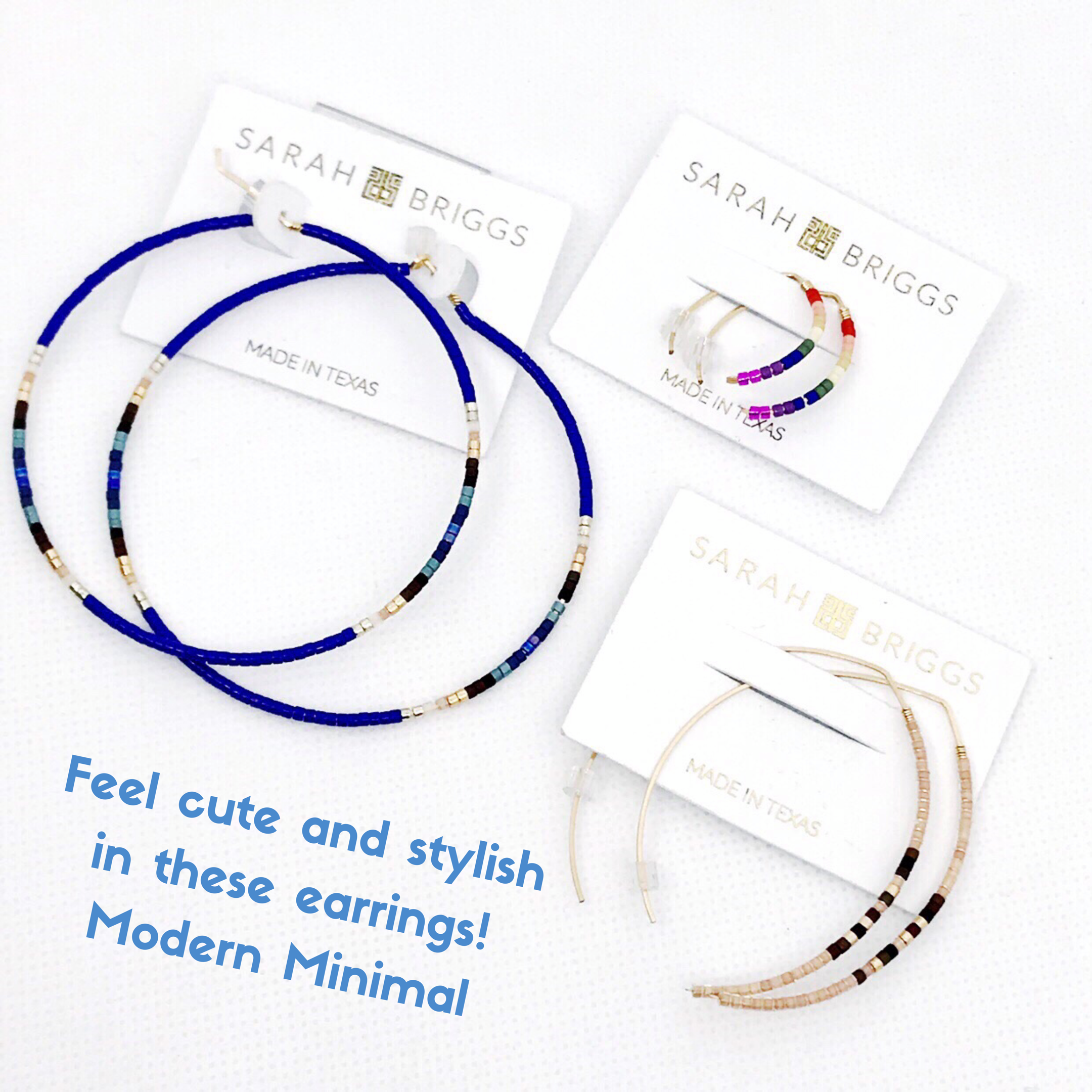 Feel cute and stylish in these  Modern Minimal Hoops.PNG