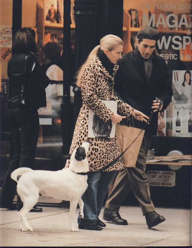Caroline Besette Kennedy in leopard coat, 1997
