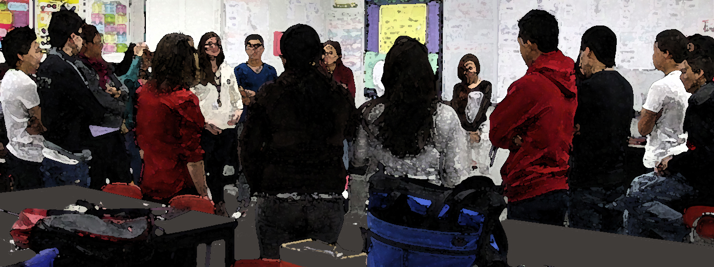 Class exercise at Chelsea High, 2013