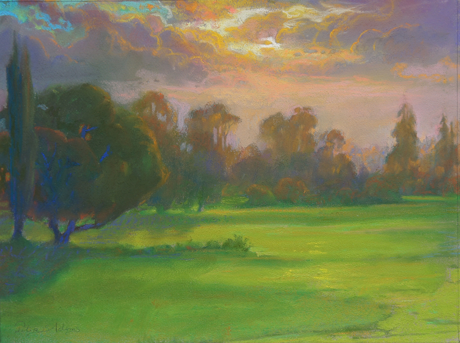 <i>Sunset Glow over the North Course</i>
