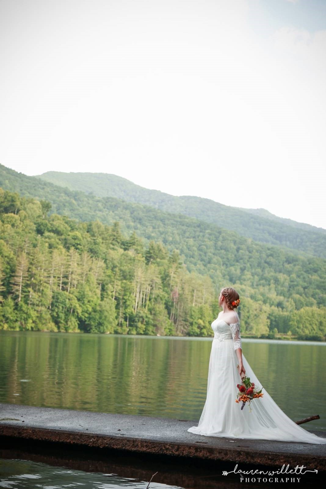 bride on the lake