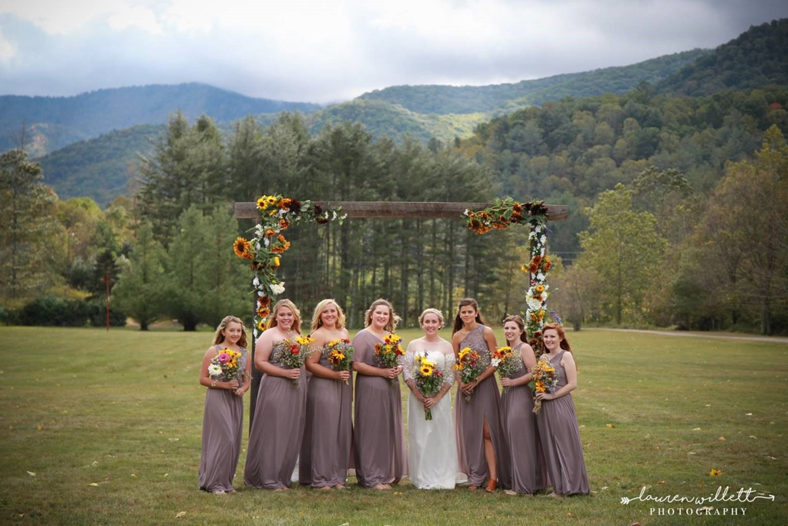 Bridal Party in the Field