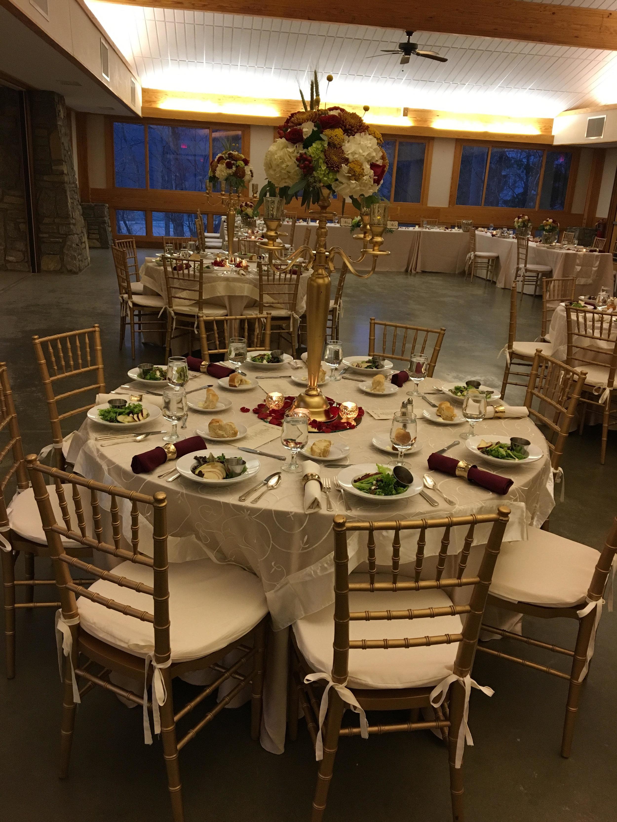 reception at dining hall