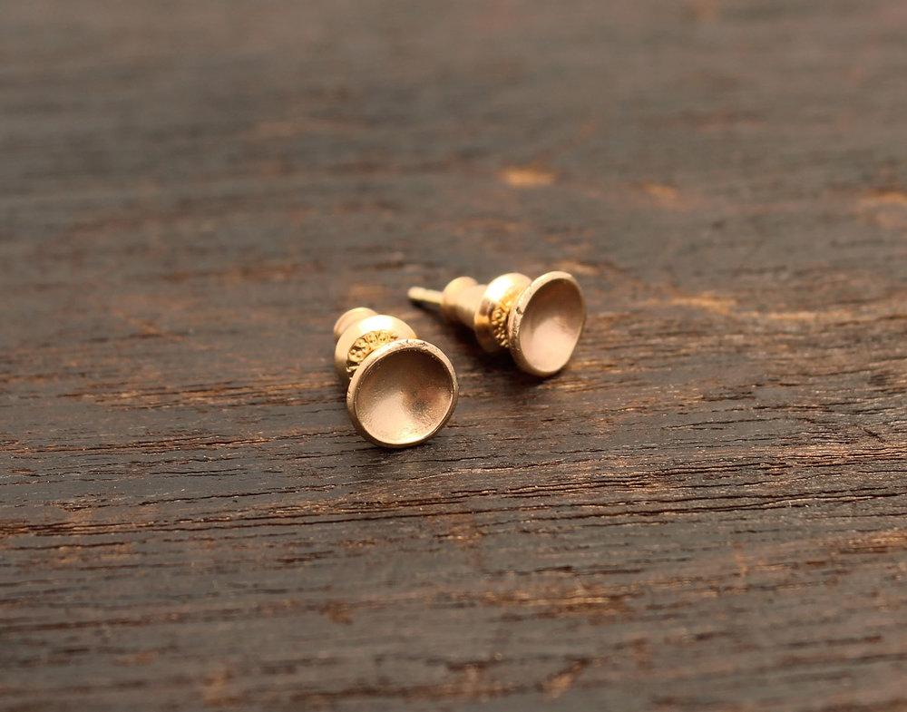 Floral Earrings Solid Brass Silver Earrings Black Earrings Handmade Earrings Silver Black Posts Earrings